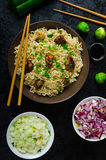 Asian chicken noodles salad Royalty Free Stock Image