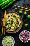 Asian chicken noodles salad Royalty Free Stock Photography