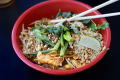 Asian chicken pad thai Royalty Free Stock Image