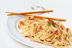 Asian Chicken Pasta Royalty Free Stock Photos