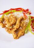Asian chicken with rice Royalty Free Stock Photo