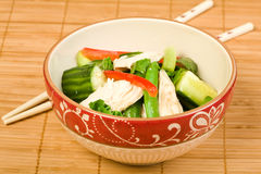 Asian Chicken Salad Royalty Free Stock Photography