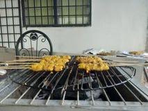 Chicken skewer. Asian chicken satay Royalty Free Stock Photos