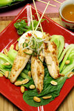 Asian Chicken Skewers stock photos