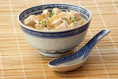 Asian chicken soup with organic vegetables Stock Photos