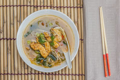 Asian chicken soup with vegetables Royalty Free Stock Image