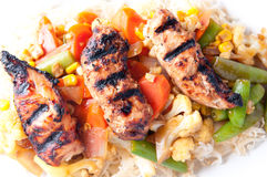 Asian chicken stirfry Royalty Free Stock Images