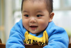 Asian child. A one year old Chinese child slobbering Stock Photos