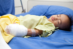 Asian child as hospital's patient Stock Photos