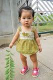 Asian child Enjoying Walk Royalty Free Stock Photography
