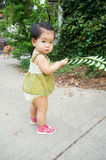 Asian child Enjoying Walk Royalty Free Stock Photo