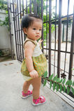 Asian child Enjoying Walk Stock Photos