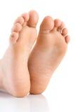 Asian child foot. Studio shot. On white background Stock Image