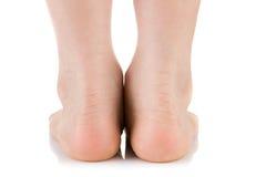 Asian child foot. Studio shot. On white background Stock Images