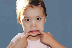 Child Making Funny Face Royalty Free Stock Photography