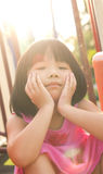 Asian child in park Royalty Free Stock Photography