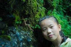 Asian child  Portrait. Asian child face looking closeup of Portrait Stock Photos