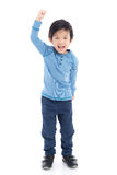 Asian child showing winner sig Stock Photography