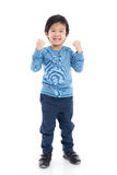 Asian child showing winner sig Royalty Free Stock Photos