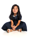 Asian Child Sitting Stock Images
