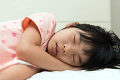 Asian child sleeping Stock Photos