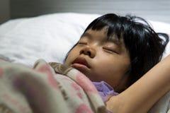 Asian child sleeping Stock Photos
