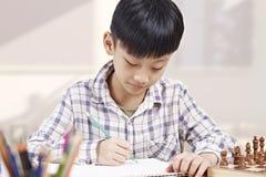 Asian child studying Stock Photo