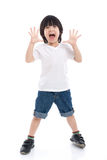 Asian child  is suprised and so happy about it Stock Photo