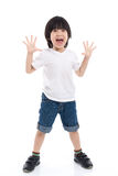 Asian child  is suprised and so happy about it Stock Photography