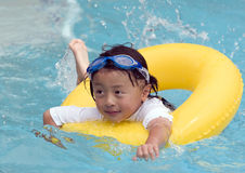 Asian Child Swimming Royalty Free Stock Photo