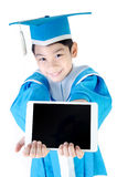Asian Child with tablet computer Royalty Free Stock Photo
