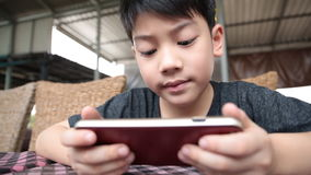 Asian child using a digital tablet together . stock video footage