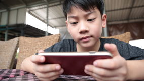 Asian child using a digital tablet together . stock footage