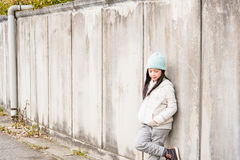 Asian child in winter Royalty Free Stock Photos