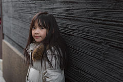 Asian child in winter Stock Photos