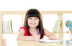 Asian Children Drawing Stock Image