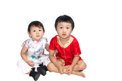 Asian children is happy New Year Royalty Free Stock Photography