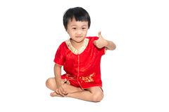 Asian children is happy New Year Royalty Free Stock Images