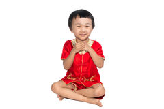Asian children is happy New Year Royalty Free Stock Photo