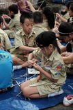 Asian children join life skills course Stock Image