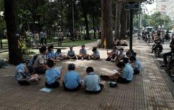 Asian children join life skills course Stock Photos