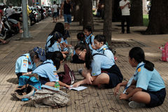 Asian children join life skills course Stock Photography
