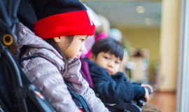Asian Children wearing winter clothes Stock Photography