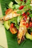 Asian Chilli Shrimps Stock Photo