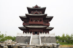 Asian China antique building, attic Stock Photo