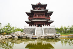 Asian China antique building, attic Stock Photography