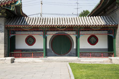 Asian China, antique buildings, the corridor Royalty Free Stock Photography