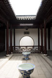 Asian China, antique buildings, courtyards, corrid Stock Photos