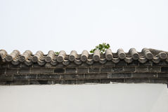 Asian China antique buildings gray bricks, tiles a. Nd white walls, very elegant and very simple very beautiful Stock Photos