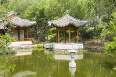 Asian China, antique buildings, the lake, Pavilion Royalty Free Stock Photography